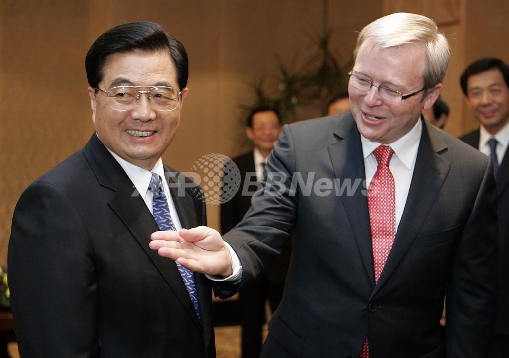 オーストラリア総選挙は中国が争点、親中派のラッド党首が優勢に