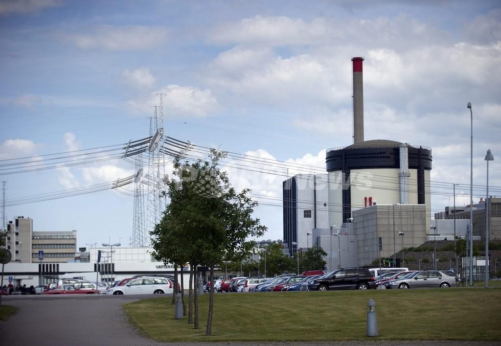 海水流入で原子炉停止、スウェーデン原発