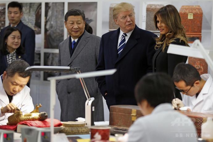 習氏、トランプ氏に中国史を教える一幕 「中国人は竜の子孫」