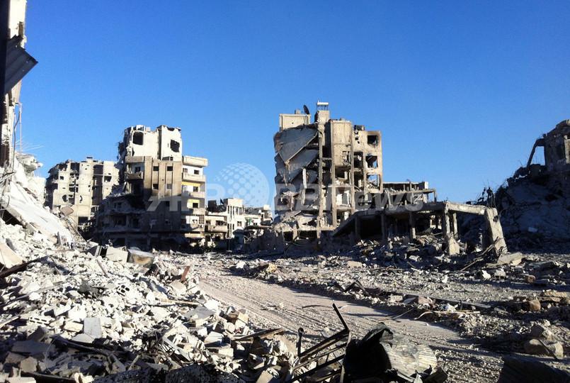 シリア政府軍、ホムスの反体制派地区ハルディヤを奪還