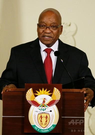 ズマ大統領が辞任 南アフリカ、与党の退陣要求受け