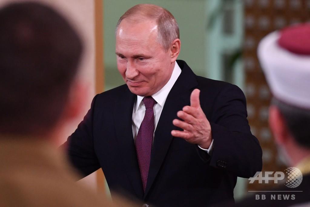 プーチン大統領、当局への侮辱と「フェイクニュース」罰する法案に署名