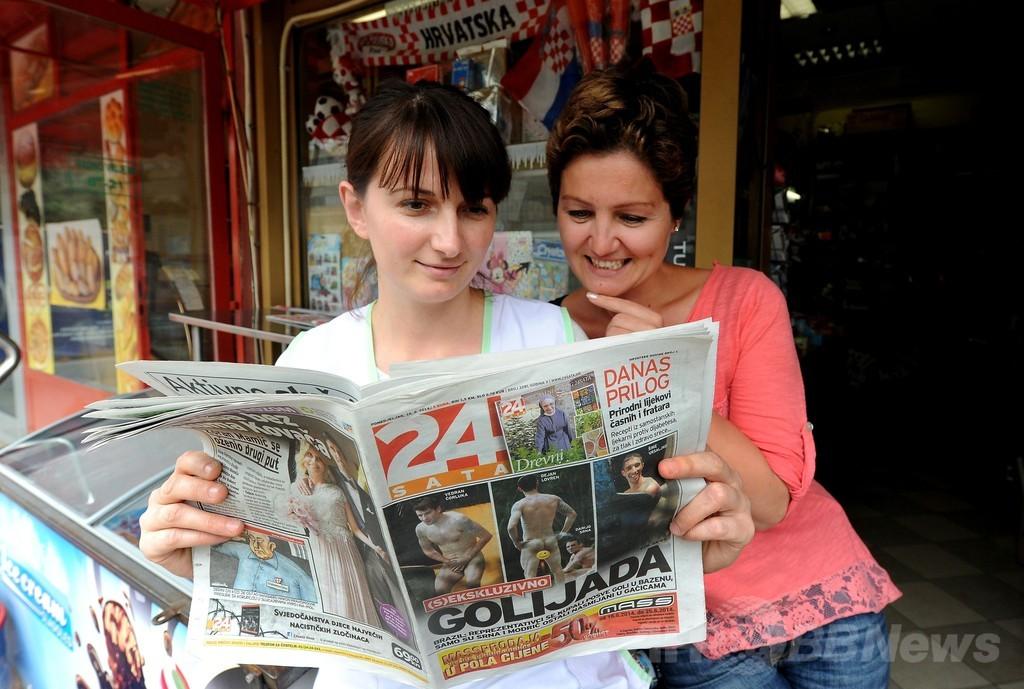 クロアチア代表オリッチ、裸写真掲載メディアを批判