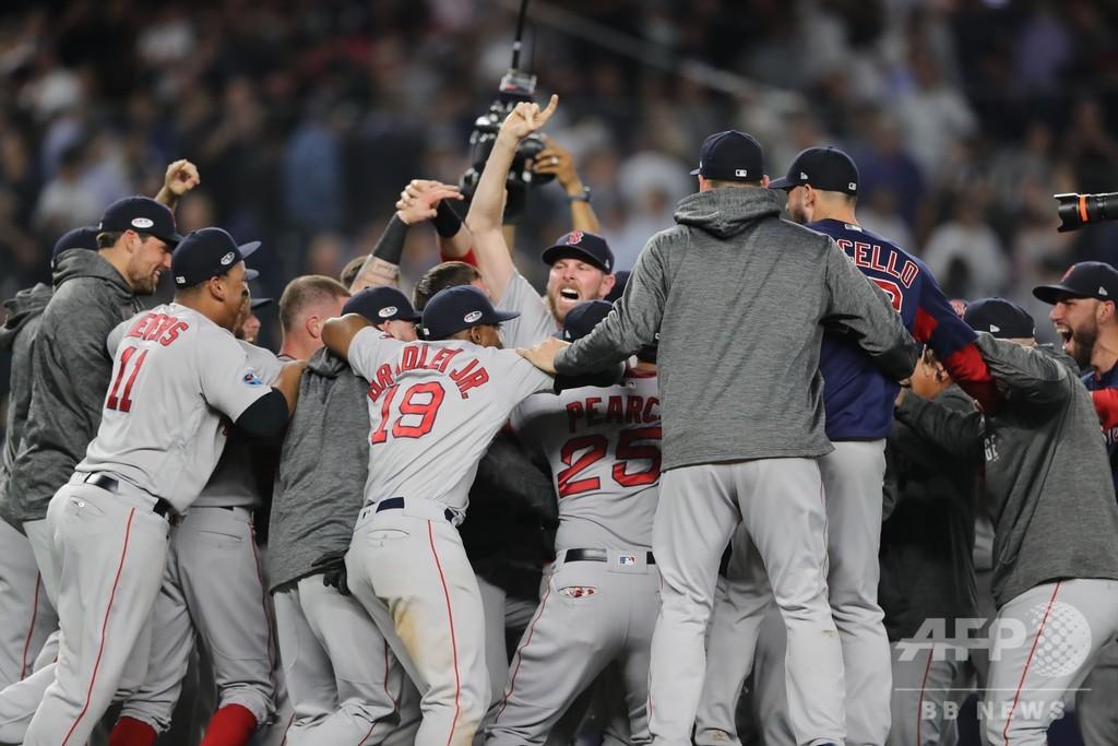 Rソックスがリーグ優勝決定S進出、ヤンキースの反撃しのぐ