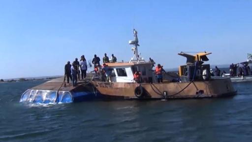 動画:フェリー転覆事故の死者224人に 41人生存 アフリカ・ビクトリア湖