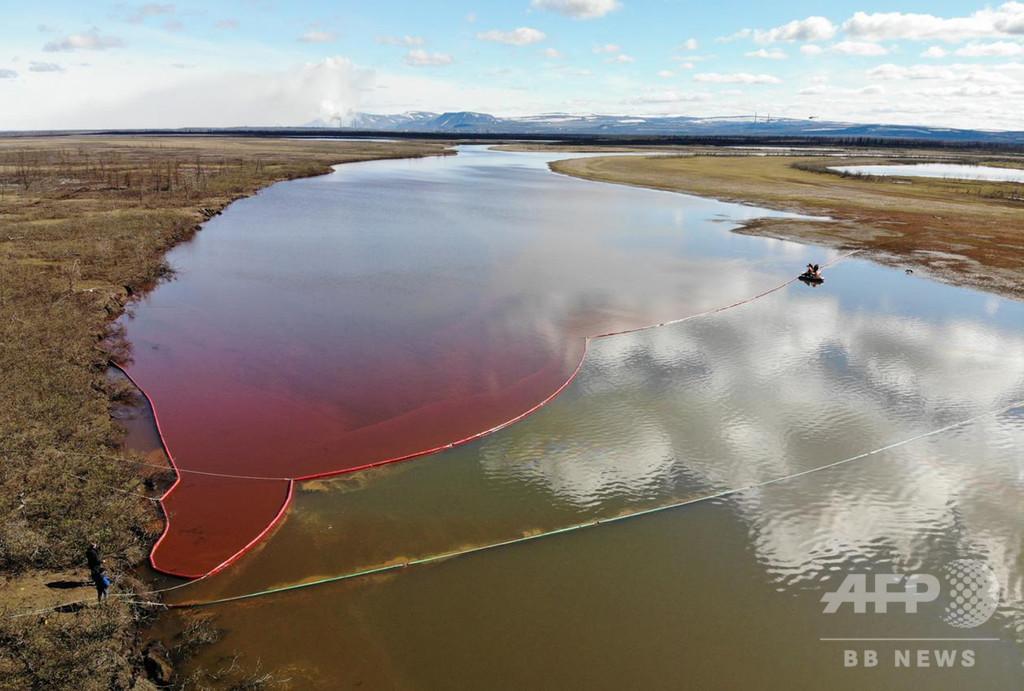 ロシアで軽油1万5000トンが川に流出、プーチン氏が非常事態宣言