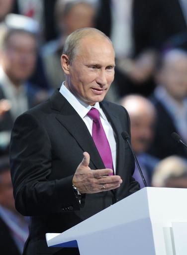 大統領選候補者にプーチン氏、ロシア与党