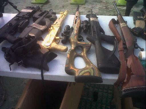 金メッキとダイヤモンド施した「AK-47」を押収、ホンジュラス