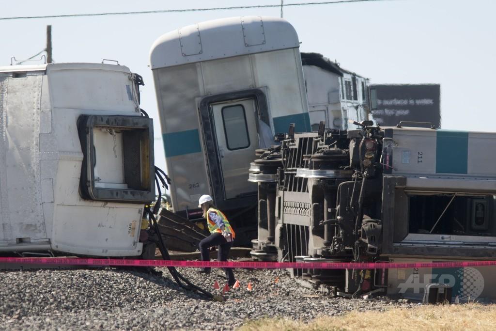 米カリフォルニア州で列車がトラックと衝突、28人負傷