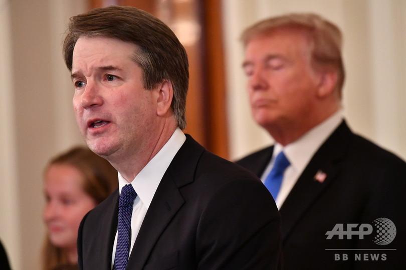 女性暴行疑惑の米最高裁判事候補、指名撤回も トランプ氏