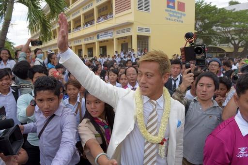 本田がカンボジア訪問、育成プロジェクト立ち上げ