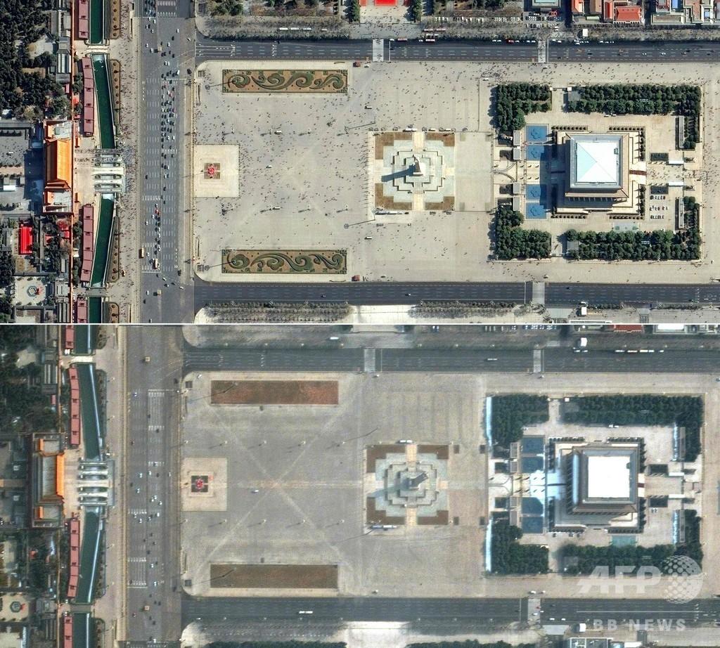 新型ウイルス流行の前後で比較、衛星写真で見る世界の変化