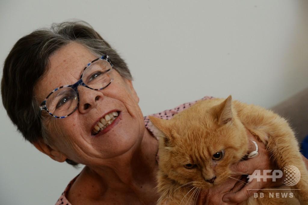 家出猫と11年ぶりに感動の再会? フランス