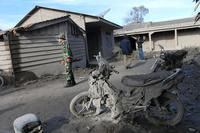 シナブン山大噴火、火砕流にのみ込まれた村