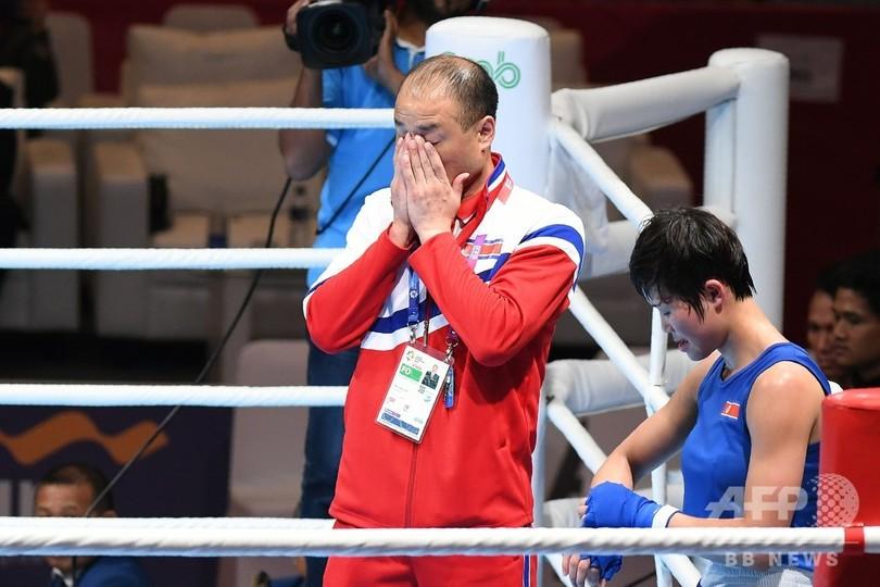 北朝鮮のボクシングコーチをアジア大会から追放、リング上で敗戦に猛抗議