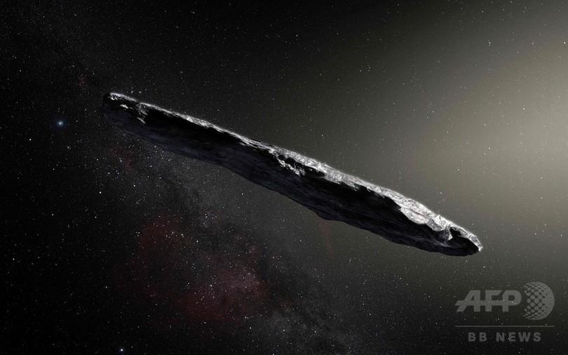 太陽系外から飛来した小惑星を初観測、葉巻形で岩石質