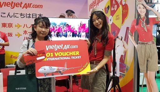 ベトジェットエア、ツーリズムEXPOジャパン2019に出展、<br />抽選でベトナムへの無料航空券も提供