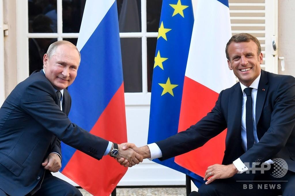 仏ロ首脳が会談、ウクライナ和平に前向き シリア情勢では対立