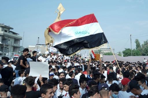 反政府デモ続くイラク、軍が首都に外出禁止令