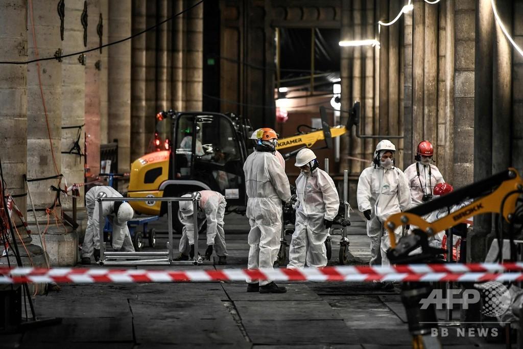 ノートルダム火災、鉛中毒の危険なしと当局 隠蔽疑惑を否定