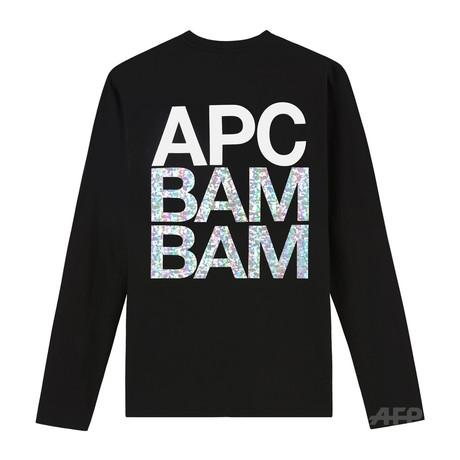 「A.P.C.」ミラーボールのように輝くホログラムTシャツ