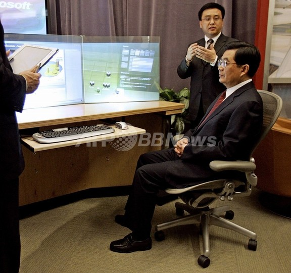 中国の胡錦涛国家主席、初のストリーミング放送生出演