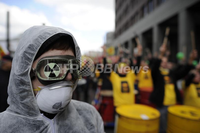 ドイツで反原発デモ、20万人以上参加