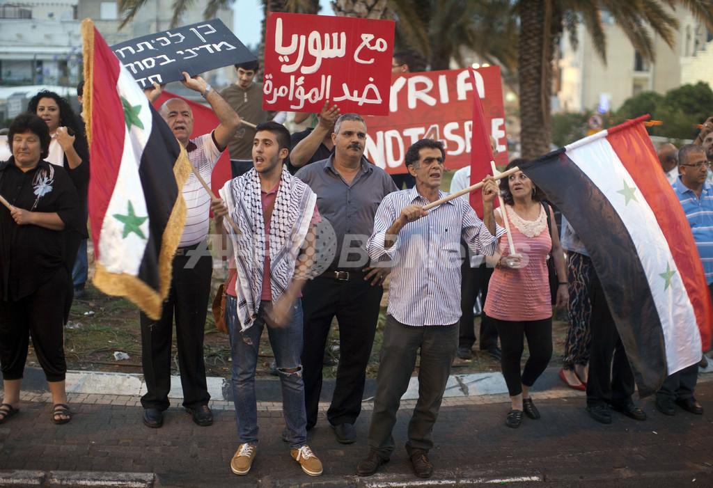 イスラエルのシリア空爆、少なくとも42人死亡 人権監視団