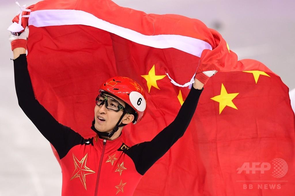 武大靖が世界新でショートトラック男子500m金メダル、平昌五輪