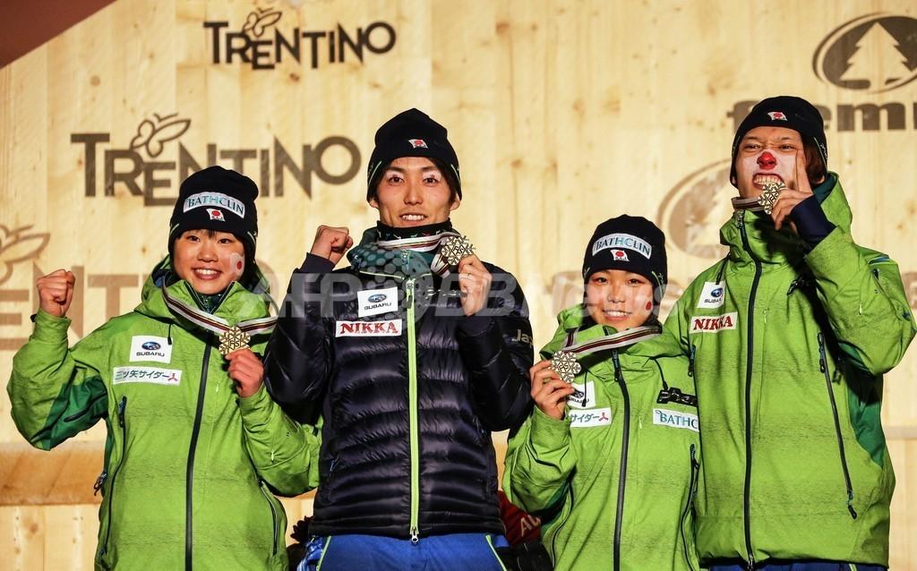 日本、ジャンプ混合団体で優勝 ノルディックスキー世界選手権