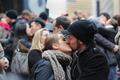 タイムズスクエアで「大みそかのキス」のリハーサル