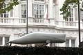 ロンドンの日本大使館で10代少女が反捕鯨活動