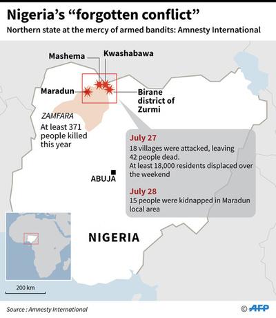 ナイジェリア警察、誘拐や家畜窃盗の取り締まりで「盗賊」104人殺害