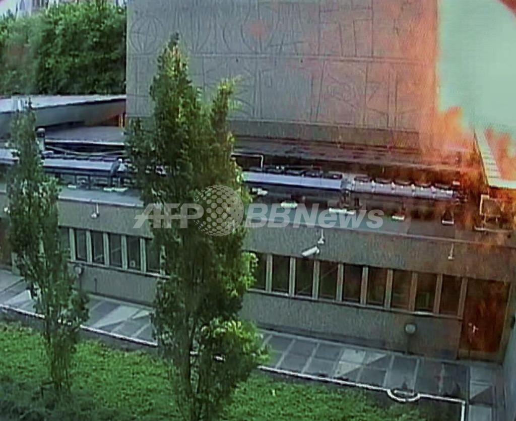 爆発の瞬間、ノルウェー乱射事件の画像公開