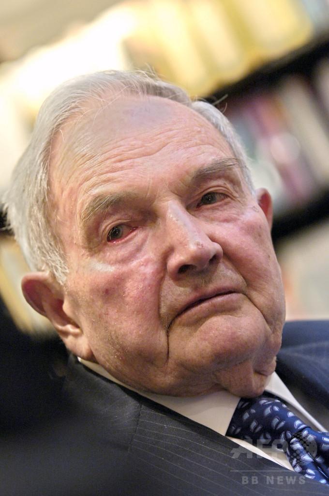 D・ロックフェラー氏死去、101歳 米石油王最後の孫