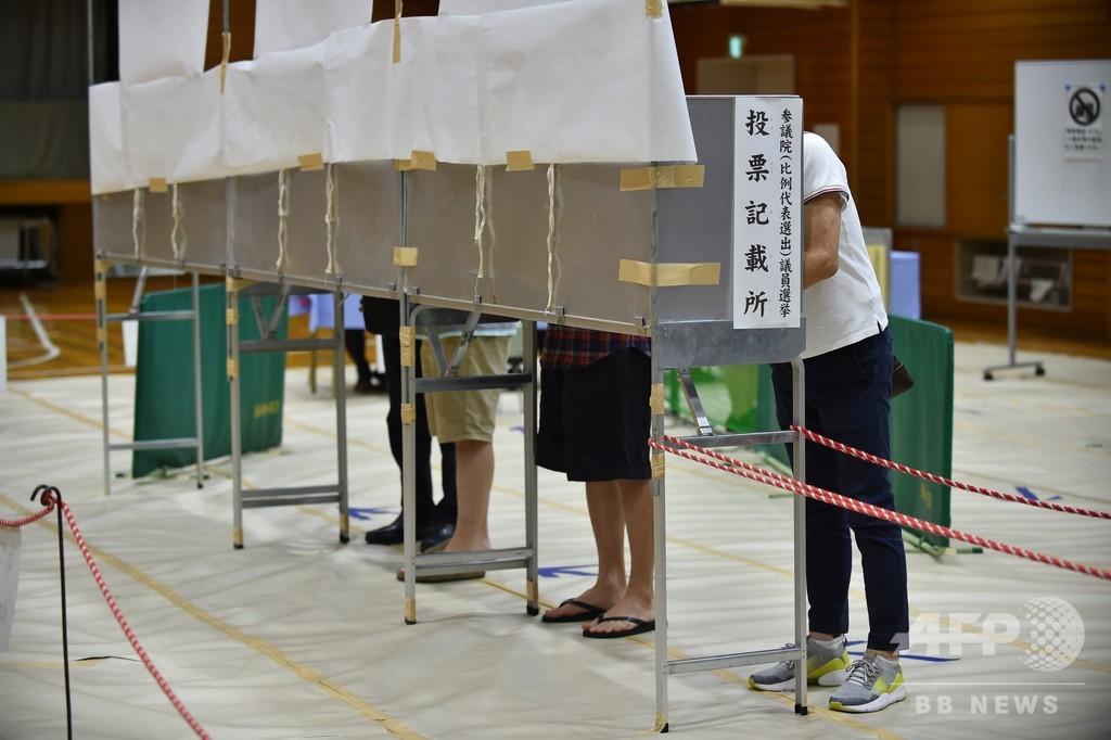 参院選きょう投票、投票率50%に達しない可能性も