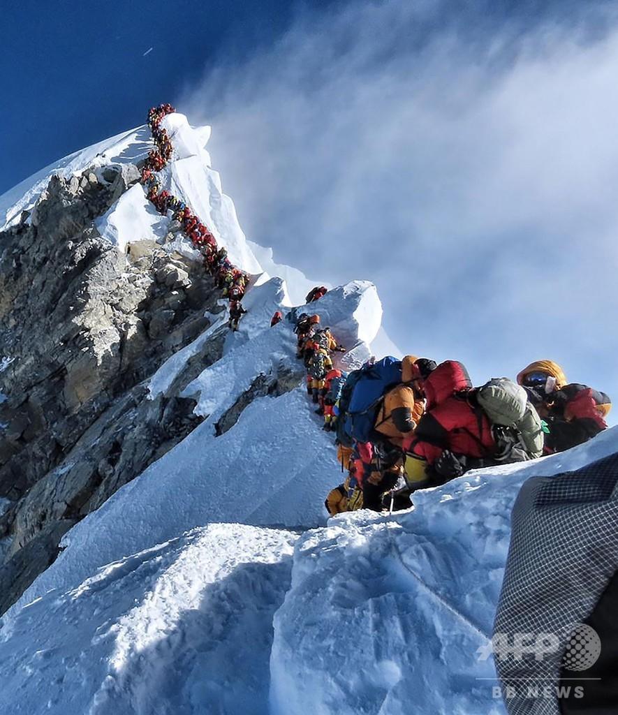 エベレスト「死のゾーン」で「渋滞」、生還者が規制強化訴え