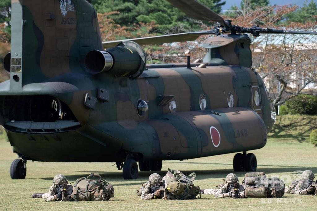 陸上自衛隊、英陸軍と共同訓練 静岡