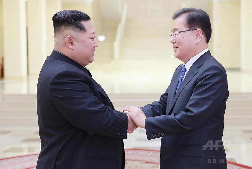 金委員長、南北首脳会談へ「満足のいく合意」 国営通信