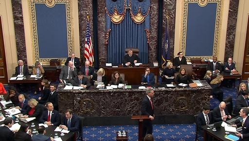 トランプ大統領弾劾裁判、証人召喚めぐりにらみ合い