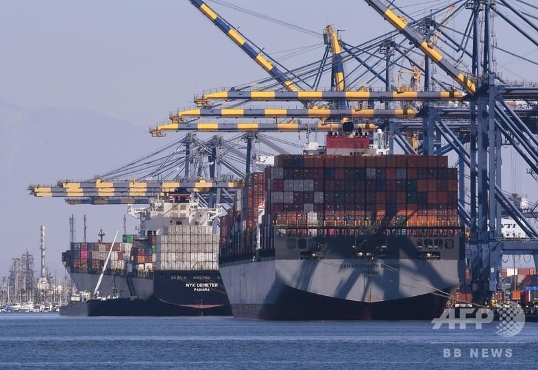 中国の対米貿易黒字、9月は過去最大の341億ドル