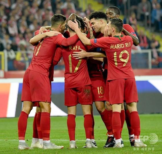 欧州王者ポルトガル、ロナウド欠く中ポーランドに勝利 欧州NL