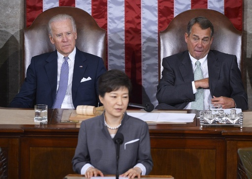 韓国大統領が米議会で演説、非武装地帯に国際平和公園建設を提案