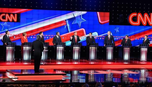 トランプ節が伝染?米共和党、大統領候補討論会