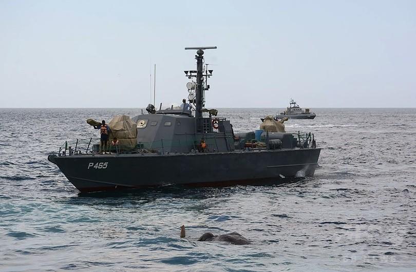 沖に流されたゾウ、スリランカ海軍が12時間かけ「奇跡的」に救出