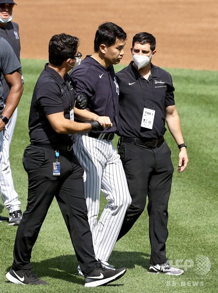 ヤンキース田中将大、頭部に打球直撃 病院へ搬送