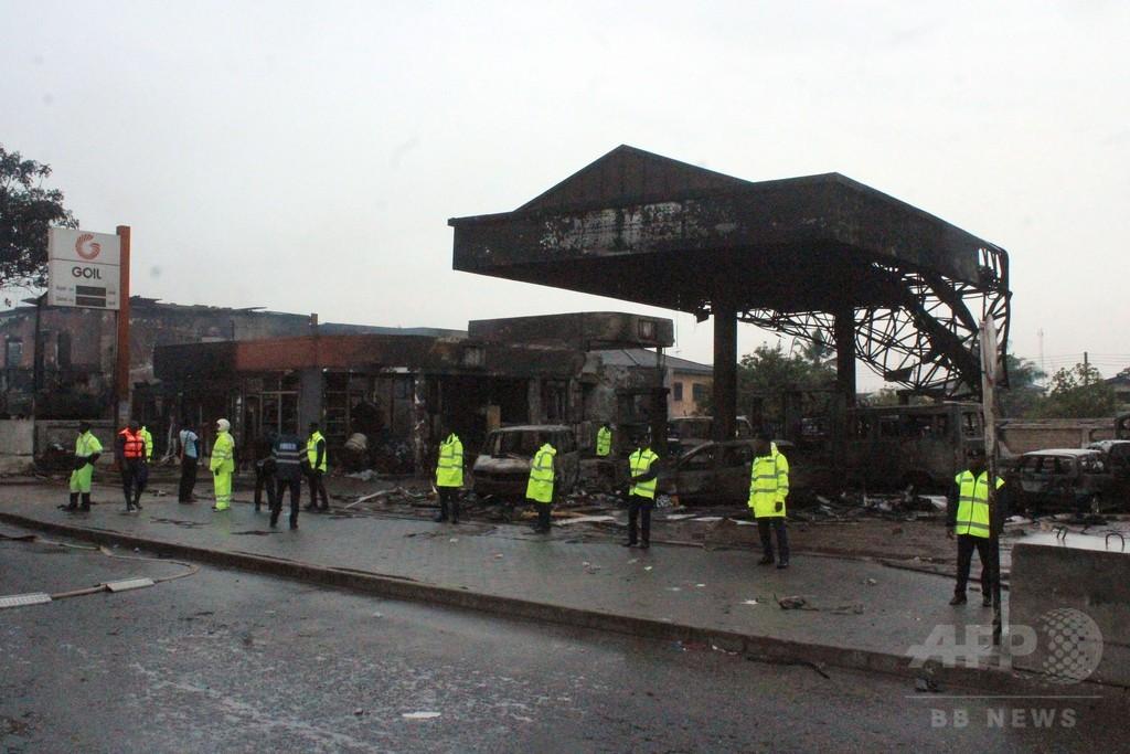 ガーナのガソリンスタンドで火災、90人以上死亡