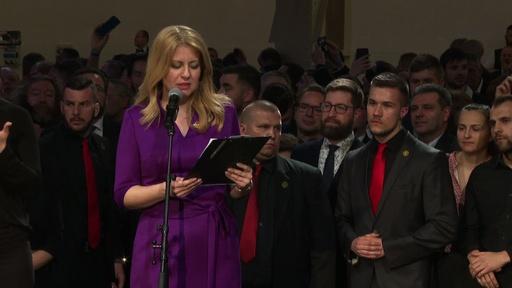 動画:スロバキア初の女性大統領誕生へ、弁護士のチャプトバ氏 決選投票で勝利
