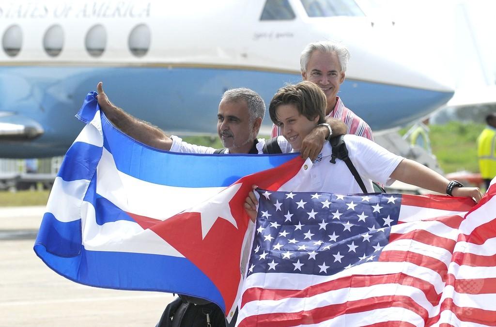 米国とキューバ、半世紀ぶりに定期航空便を再開 毎日110便往来へ