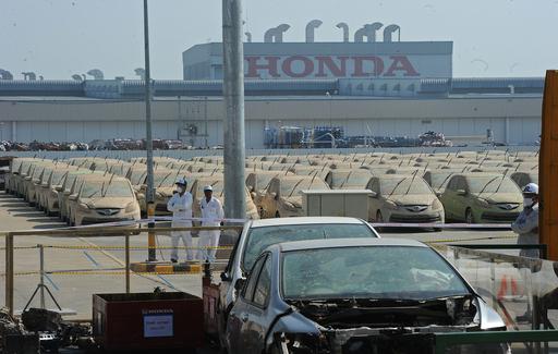 ホンダ、タイ洪水で被災1000台を廃車に